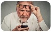 dificultar para ver anciano
