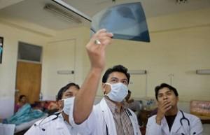 Influenza en Nepal. Imagen: OMS