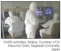 Trabajadores de la salud durante epidemia de SRAS en Beijing. Imagen: OMS