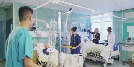 Enfermos sala hospital