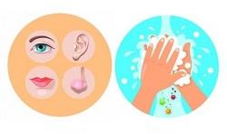 no tocar lavar manos