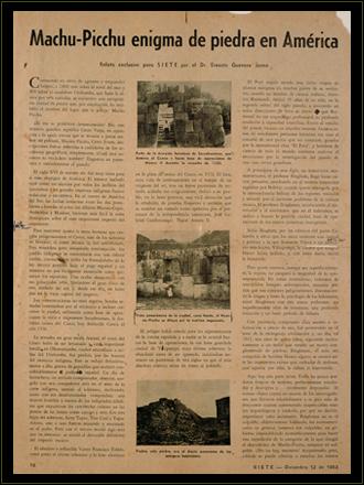 Artículo de la autoría de Ernesto Guevara publicado en la revista Siete de Panamá el 2 de diciembre de 1953.
