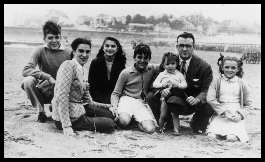 La familia Guevara completa en Mar del Plata. (Foto: La Pastera. Museo del Che)