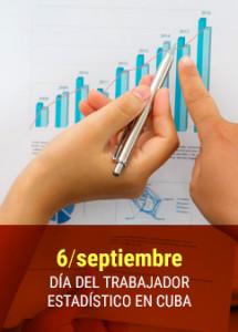 6 sept Dia del trabajador estadístico en Cuba