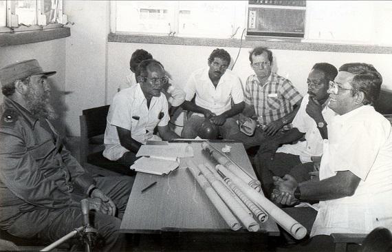 Visita a la obra constructiva del Hospital Abel Santamaría, Pinar del Río