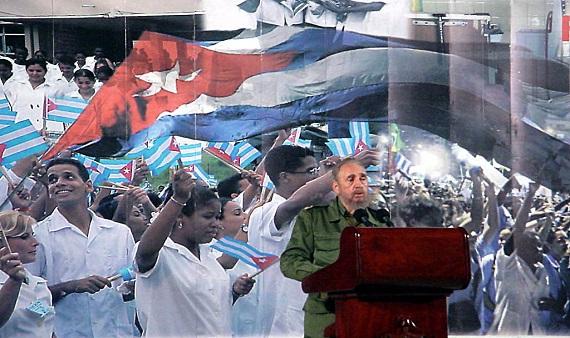 Acto por la inauguracion del policlínico Mario Escalona de Alamar. Municipio Habana del Este. Diciembre de 2002. (Fuente:MINSAP)