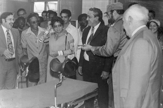 Visita al Hospital Gustavo Aldereguía de Cienfuegos, junto al Dr. Agostino Neto (II)