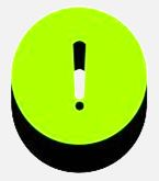signo admiración atención verde limón