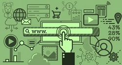 sitio web buscador navegación web
