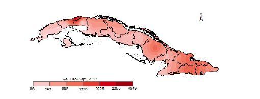 Pronóstico de acumulados del número de focos de Aedes aegypti en Cuba. Fuente: Boletín IPK